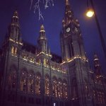 Rathaus night view