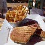 Cuban sandwich and fantastic fries at The Hub