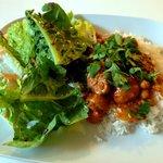 A vegan main dish with some salad