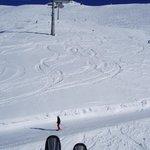 On the Grosse Karbahn, a short ski down from hotel Riml.