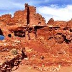Terry Hunefeld at Wupatki National Monument north of Flagstaff AZ