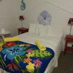 Colorful but small room at Ibis Bay Beach Resort