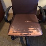 Chair at the desk in the room