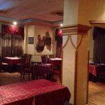 Interior of Indian restaurant Brham Ji