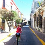 Biking through Centro
