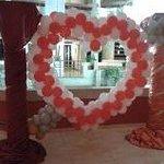 decoración hotel San Valentin
