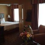 Long shot across suite