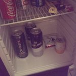 The most unappealing mini bar to date....turned off and warm!