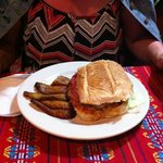 Cuban Sandwich with Plantains