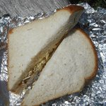 the takeaway Cheese and Pickle sandwich