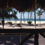 Vista desde el bar del hotel...
