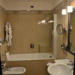 Decent sized bathroom with heated towel rack