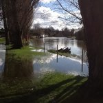 flooding nearby on the Thames