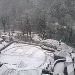 View after snowfall from superior machaan