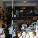 The coffee shop above the deli