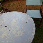 table petit-déjeuner dans le jardin