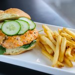 Fire Cracker Salmon Burger