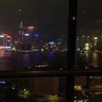 Nighttime view of HKG Skyline from SkyTop restaurant @ Sheraton Hong Kong & Towrs Hotel!