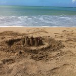 Left behind a sand castle !!!