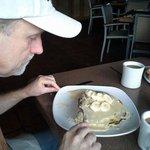 Nac Nut Banana Pancakes...It's a BIG stack!