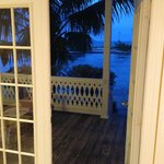 View to beach deck