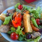 Chicken and Haloumi salad - fresh and beautifully presented