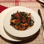 Black pasta with ono