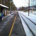 Hunderfossen train station.