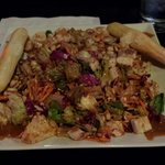 Asian Chicken Salad - It's enormous! I recommend ordering your dressing on the side. Pretty tast