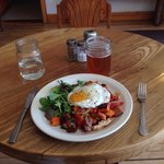 Special of the day: Chicken and Sweet Potato Hash with a Fried Egg