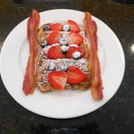 Pecan French Toast - served with a smile.