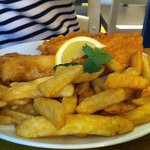 The standard fish and chips. Scoffed down with delight.
