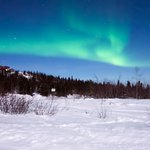 The picture I took of the aurora, with Ronn and Marketa's help!