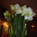 fleurs à l'accueil
