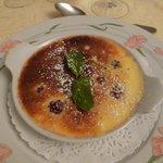 Dessert : Gratin de mures aux pistaches
