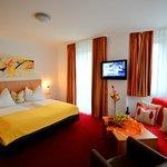 Unsere Komfort Doppelzimmer (ca. 25m²) bieten mehr Raum für Gemütlichkeit.