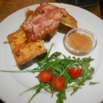 French toast 'Holzhacker' Style with Austrian bacon
