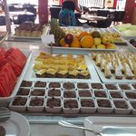 Lovely desserts and fruits