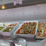 Lovely salads a variety every day.