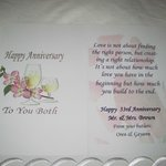 special anniversary card from the butlers