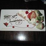 anniversary plate of goodies