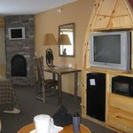 Northwoods decor of our suite