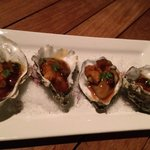 Oysters with Foie Gras and Uni