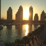 Early morning on the Dubai Marina just outside the hotel