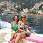 Boat ride in Positano to restaurant D'Adolfo