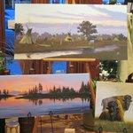 Del Iron Cloud original paintings