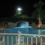 One of the seven pools, at night