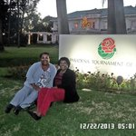 Angela and me in front of the house sign