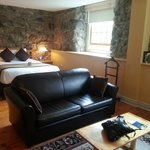 Our favourite room complete with the original stone mill walls