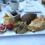 gourmet breakfast with buckwheat crepe